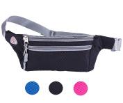 Veriya Waist Pack Bum Bag ,Waterproof Waistpack Lightweight Fanny Pack Bag Bumbag with Headphone Jack for Running Hiking Cycling Dog Walking 14cm smartphoe Money Coins Keys Passport Holder