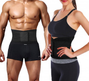 Vorcy ActiveBak Double Pull Lumbar Lower Back Support Brace For All Sports | Medical-Grade | Provides Lumbar Support For Proper Form, Injury Prevention & Dramatic Pain Relief | Slims & Trims Waistline | For Active Men & Women