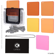 Diving Lens Filter Kit for GoPro HERO 5 Black - Enhances Colours for Various Underwater Video and Photography Conditions - Vivid Colours, Improved Contrast, Night Vision - For use with waterproof housing