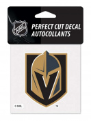 Las Vegas Golden Knights NHL WinCraft Black & Gold Perfect Cut Decal