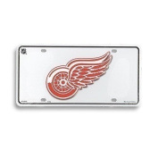 Detroit Red Wings Licence Plate, White