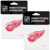 Detroit Red Wings NHL 10cm x 10cm Logo Decals - 2 Pack