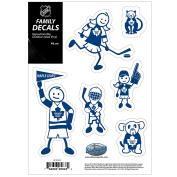 NHL Toronto Maple Leafs Family Decal Set Small, 13cm x 18cm , Blue