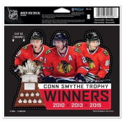 Chicago Blackhawks 2015 Stanley Cup Champions 11cm x 15cm Decal - Multiple Players