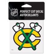 Chicago Blackhawks Alternate Logo Perfect Cut Decal 10cm x 10cm