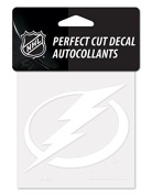 NHL Tampa Bay Lightning 4x4 Perfect Cut Decal White