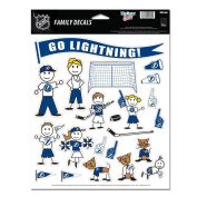 NHL Tampa Bay Lightning Spirit Family Decal Sheet, 22cm x 28cm