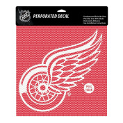 NHL Detroit Red Wings Perforated Decal, Large/30cm x 30cm , White