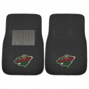 FANMATS 17182 NHL Minnesota Wild 2-Piece Embroidered Car Mat Set