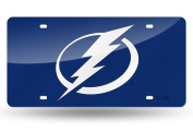 Tampa Bay Lightning BLUE Premium Deluxe Laser Cut Acrylic Inlaid Mirrored Licence Plate Tag Hockey