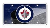 Winnipeg Jets Puck Design PV10301 Metal Aluminium Licence Plate Tag NHL Hockey