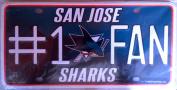 San Jose Sharks SJ 9101 #1 Fan NHL Hockey Metal Tag Licence Plate