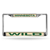 NHL Minnesota Wild Laser Cut Chrome Plate Frame
