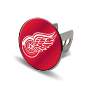 NHL Detroit Red Wings Laser Cut Metal Hitch Cover, Large, Silver