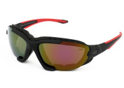 Xtreme 2in1 Mirrored Polarised Sunglasses / Goggles for Kayaking, Canoeing, Snow Boarding, Cycling ... Foam Padding