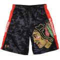 KLEW NHL Chicago Blackhawks Big Logo Polyester Shorts, X-Large, Black