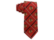 Chicago Blackhawks NHL Silver Line Woven Silk Neck Tie Eagles Wings