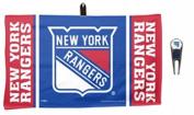 NHL New York Rangers Golf Ball Mark Repair Tool & 36cm x 60cm Waffle Towel Set by WinCraft