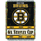 Northwest Boston Bruins NHL Championship Commemorative Woven Tapestry 120cm x 150cm Throw