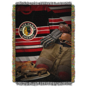 NHL Chicago Blackhawks Vintage Tapestry Woven Throw, 120cm x 150cm , Red