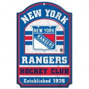 NHL New York Rangers 20562014 Wood Sign, 28cm x 43cm , Black