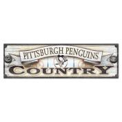 NHL Pittsburgh Penguins WCR61155015 Wood Sign, 23cm x 80cm