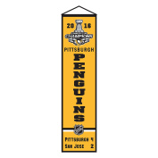 Pittsburgh Penguins Official NHL Champs Commemorative Wool Banner Hanging Wall Pennant Stanley Cup Final Champions 2016 Championship by Winning Streak 472167