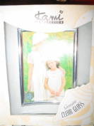 Glass Picture Frame with Gold Accents