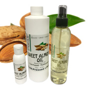 Sweet Almond Oil- 5 Sizes Available. NakedOil Sweet Almond Oil Cold Pressed Mediterranean! Skin, Hair, Carrier, Massages & More!