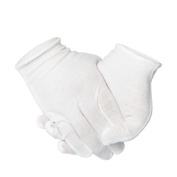 Outee 12 Pairs Moisturising Gloves White Cotton Cosmetic Moisturising Gloves Hand Spa Gloves Moisture Enhancing Glove