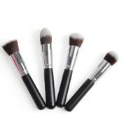 Susenstone4 Pcs Synthetic Flat Foundation Brush ,Single Makeup Cosmetic Brush