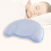 Huluwa Baby Pillow Toddler Memory Foam Pillow Prevent Flat Head, Food Grade Safety Material, Comfortable and Breathable, Blue