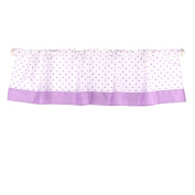 Purple Triangle Dot Window Valance by The Peanut Shell - 100% Cotton Sateen