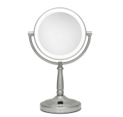 Makeup Mirror,Cordless Makeup Beauty Cosmetics Mirror Bathroom Vanity LED Lighted Double Sided