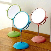Makeup Mirror, Tabletop Pink Magnifying Cosmetic Double Side 15cm