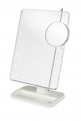Makeup Mirror, 8 LED Lighted Makeup Cosmetic Vanity Mirror 1X/10X Magnification