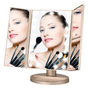 Makeup Mirror,Lighted Touch Screen LED Table -Three Panel ...