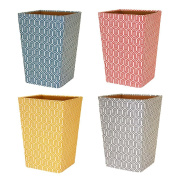 GRAPHIC GEOMETRIC WASTE PAPER BIN