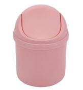 Crasy Shop Plastic Mini Desktop Trash Can Small Countertop Storage Box with Swing Lid,4L