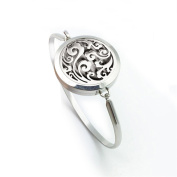 Cloud Essential Oil Diffuser Cuff Bracelet Stainless Steel Aromatherapy Locket Pendant Bangle-20MM
