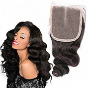 Human Hair Body Lose Wave Brazilian Virgin Top Closure 100% Unprocessed Free Part 4x 4 Lace Frontal Closure Bleached Knots with Baby Hair From Dream Beauty for Woman