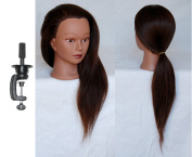 HairZtar 100% Human Hair 60cm - 60cm Mannequin Head Hairdresser Training Head Manikin Cosmetology Doll Head
