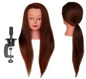 HairZtar 100% Human Hair 70cm - 70cm ( Super Long ) Mannequin Head Hairdresser Training Head Manikin Cosmetology Doll Head