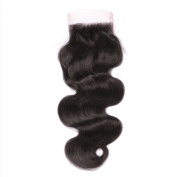 KRN Free Part Lace Closure 4x 4 Body Wave Brazilian Virgin Human Hair for Black Women Natural Colour Frontal with Baby Hair