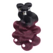 Black Rose 7A Grade Brazilian Virgin Human Hair Extensions Ombre Body Wave Hair Weft #T1B/99j Colour Human Hair Weave