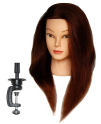 HairZtar 100% Human Hair 60cm Mannequin Head Hairdresser Training Head Manikin Cosmetology Doll Head