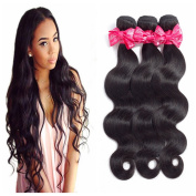 MS Love Brazilian Body Wave Hair Unprocessed Virgin Hair 41cm 1 Bundles Remy Human Hair Extension