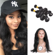FASHIJIA Pre Plucked 360 Lace Frontal With Bundle with Baby Hair Malaysian Body Wave Human Hair 360 Lace Frontal Closure with Bundles