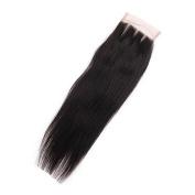 Pearl Hair Brazilian Remy Hair Straight Closure 4X4 Lace Closure Natural Black Colour Human Hair
