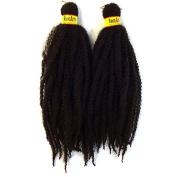 RastAfri Malibu Afro Kinky Braid 46cm -BLACKWINE